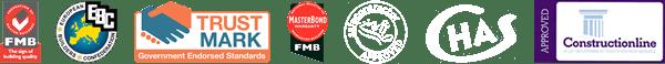 Accreditations - FMB, EBC, Trustmark, Masterbond