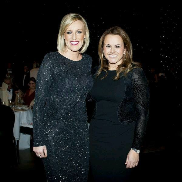 Claire & BBC1 Breakfast Steph McGovern at Yorkshire Children of Courage Awards 2015