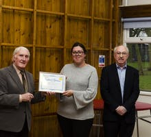 Teacher - Dianne Marsh receives her certificate