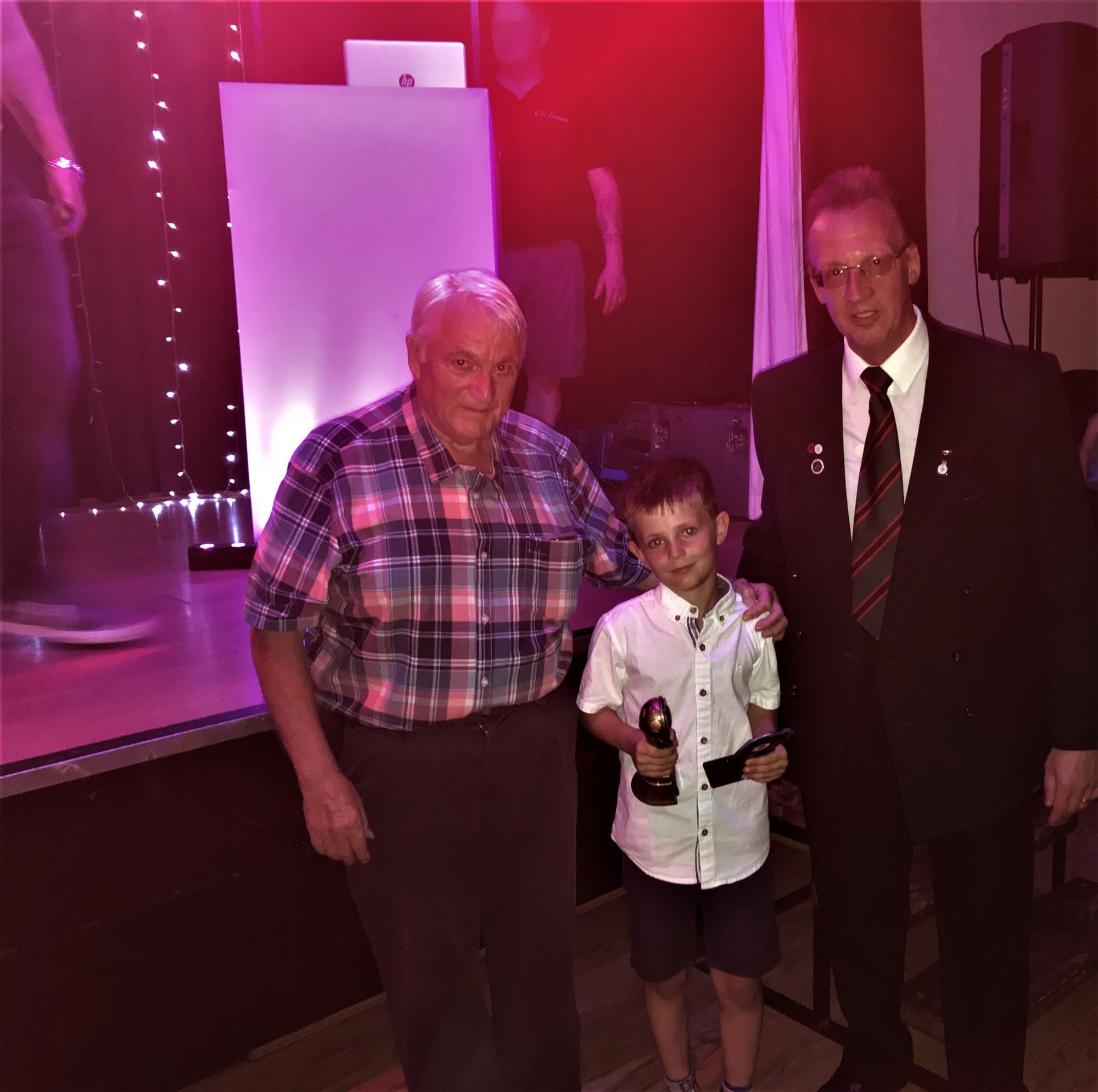 Eric and Colin at Hall Green United U8 Presentation