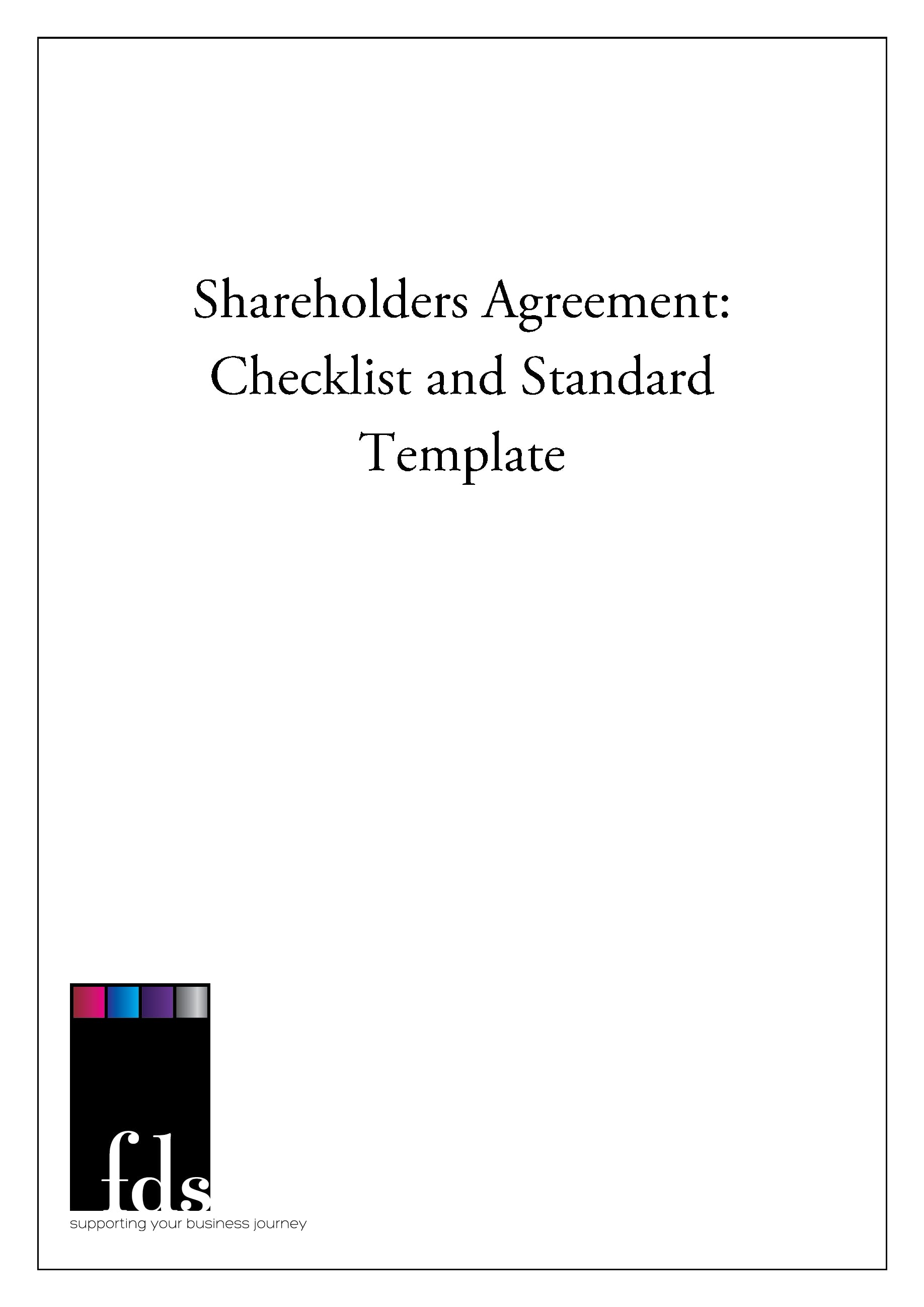Shareholder Agreements Fds