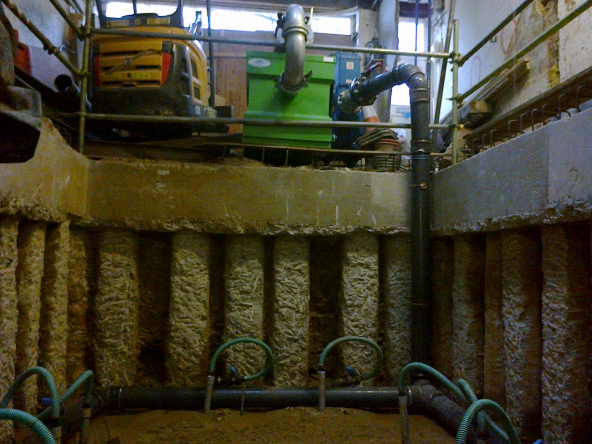 Basement dewatering with contiguous pile walls