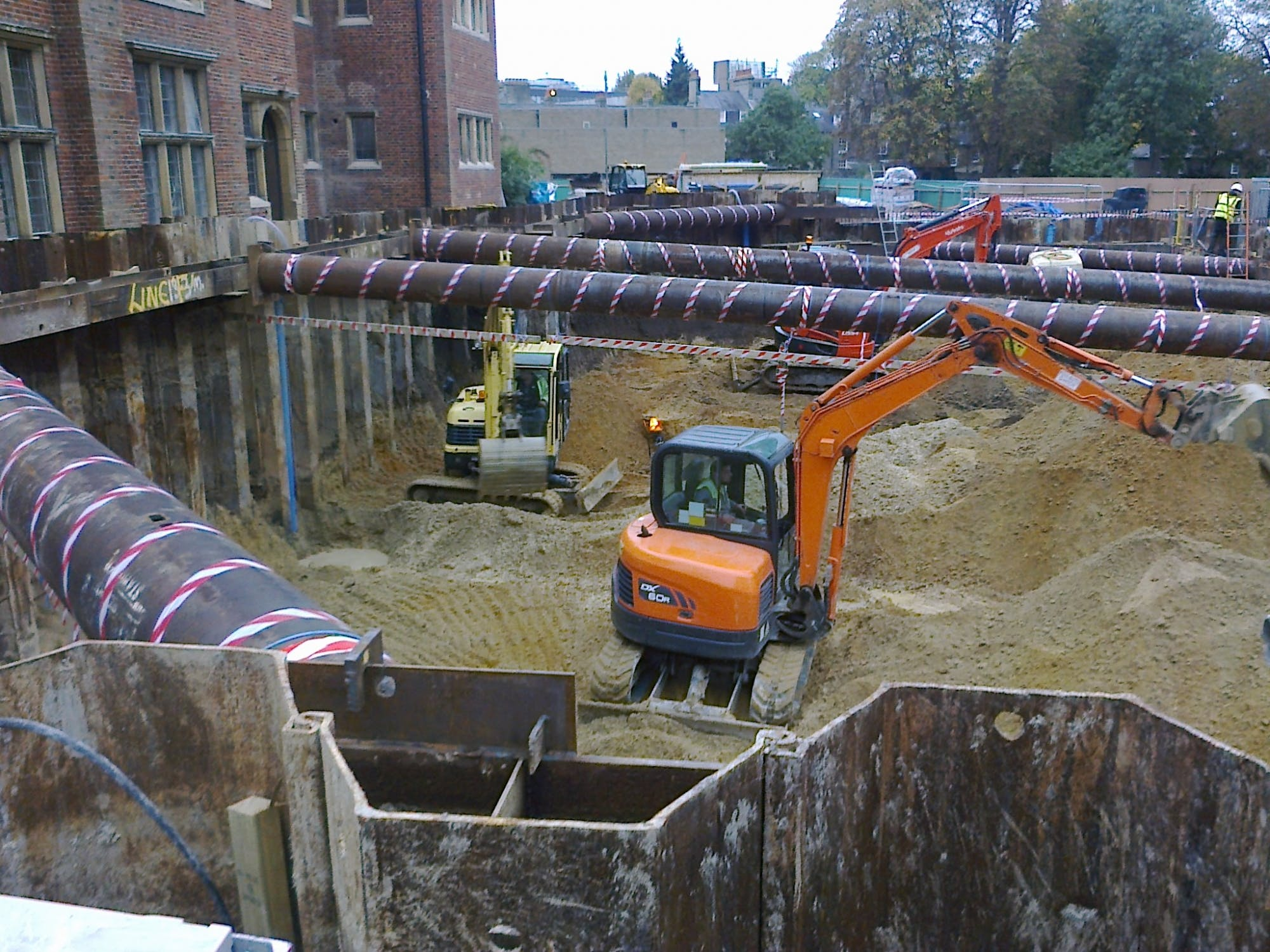 Basement dewatering by deep wells