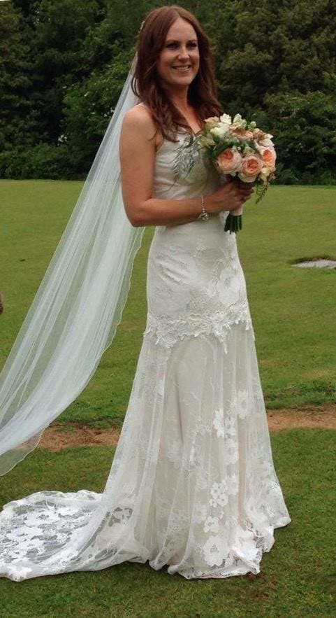 Another stunning bride called Ellie, this time wearing 'Gardenia' by Claire Pettibone