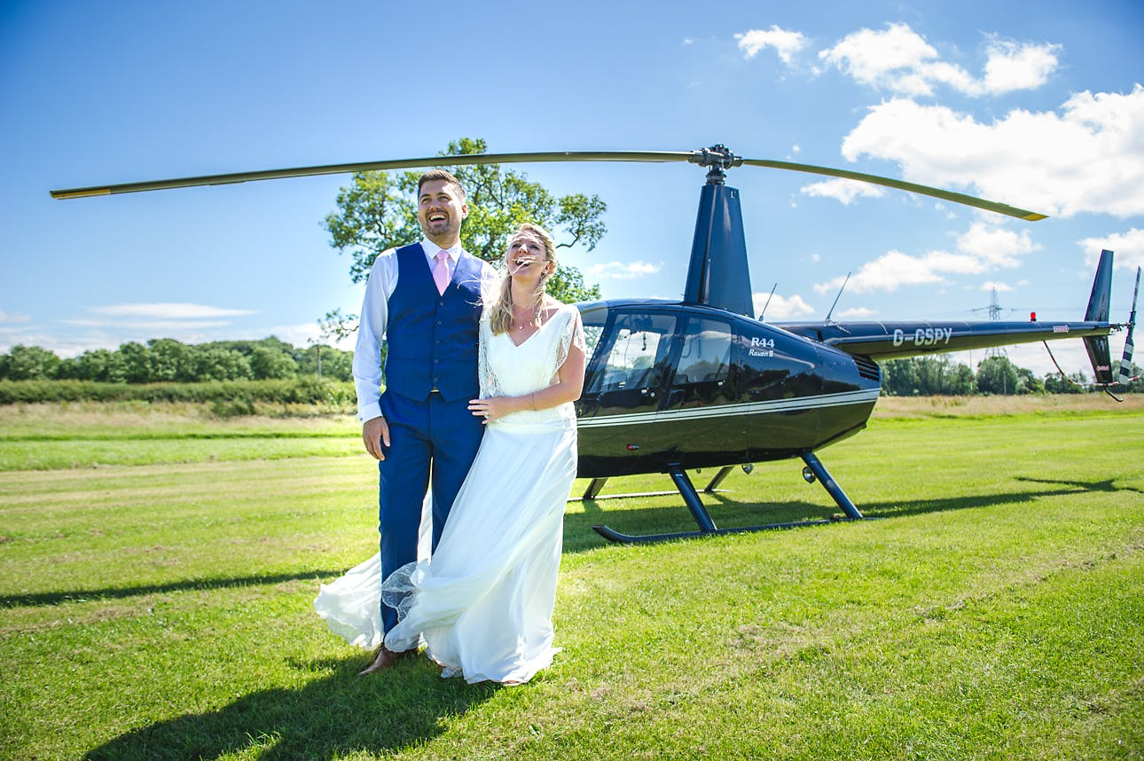So the Best Man actually treated them to a helicopter ride for their wedding, what a guy! And how beautiful does Abby look wearing 'Dixit' by Rembo Styling.