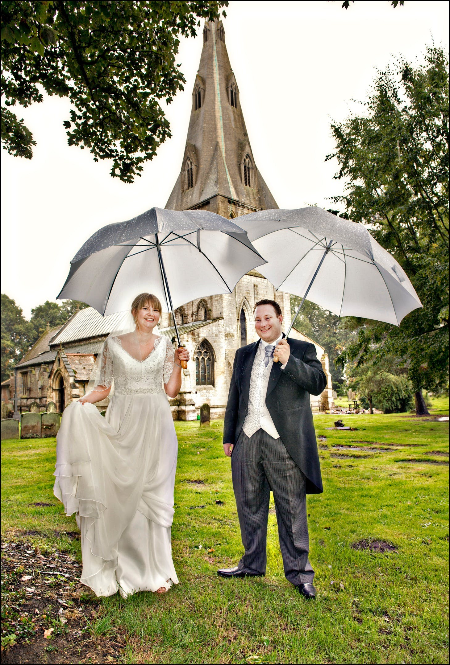 We're singing in the rain! Lovely Annabel is wearing 'Maud' by Charlotte Balbier.