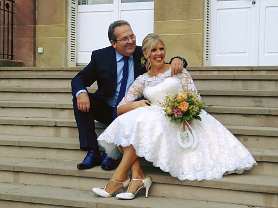 You can't be a wedding in provincial France, with the lovely Helen wearing 'Sarah' by House of Mooshki.