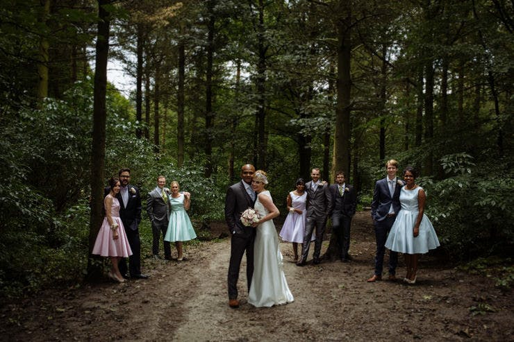 Laura's beautiful woodland wedding, wearing Boadicea by Charlotte Balbier. Images by Toast of Leeds