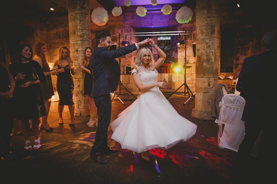 We love this image of #Lacebride Leanne wearing her beautiful dress 'Poppy' by House of Mooshki, so playful!