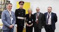 A-SAFE team members with the Lord Lieutenant