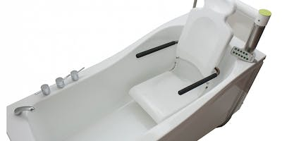 Modern in design and functional in use, disabled baths with automatic transfer seats offer the ultimate independent bathing solution for the disabled.  By far one of the simplest, safest & easiest disabled baths to use in a domestic or residential care setting this particular modular systems allows for you or a loved one to bathe independently,