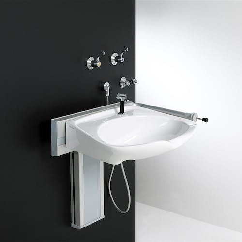 Covering Leeds & Harrogate we design & fit height adjustable disabled basins and rise & fall specialist units; all of which support independent bathing.