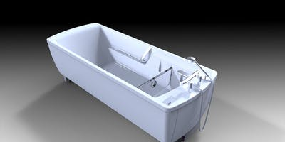 Fully height adjustable rise and fall disabled baths are perfect for carer assisted bathing.  Enhancing the overall look and feel of the disabled bathroom environment this particular disabled bathing solution is relatively discreet in appearance and offers a pleasurable bathing experience for both user and care giver.