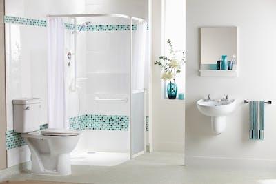 Stylish disabled bathroom