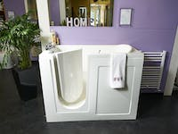 safe & practical bath & shower room solutions on display at our showroom