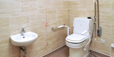 At our disabled bathroom showroom you will discover a great selection of disabled toilets. From auto wash & dry bidets to raised height WC we have it all.