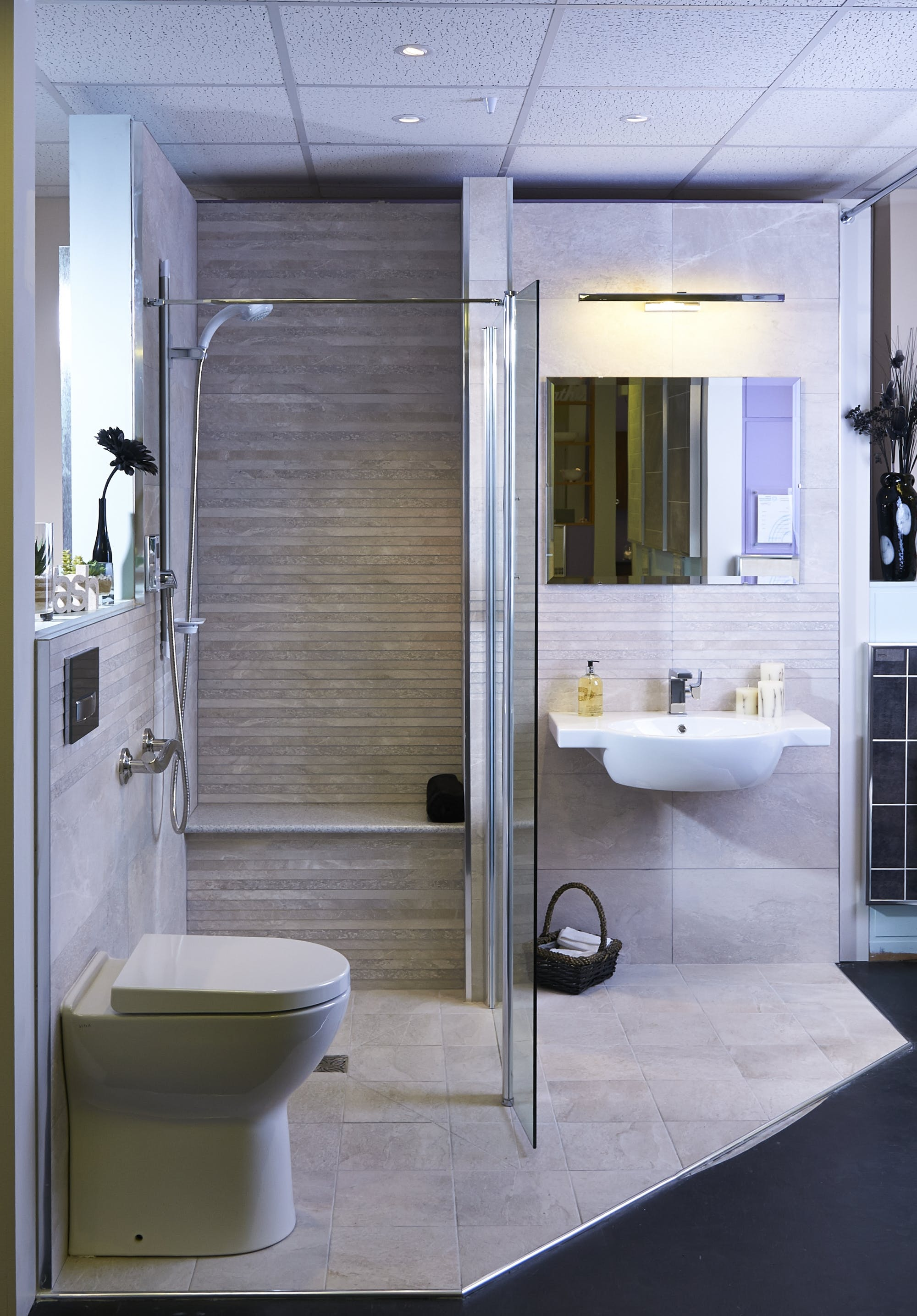 Toilet Room Designs: Stylish, Easy Access Bath & Shower Rooms On Display At Our