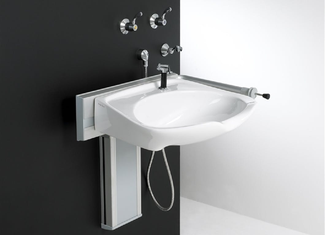 Height adjustable washbasins are the perfect solution if you use the bath or shower room while seated, or in a wheelchair. The most bespoke bathroom sanitary ware solution available they allow you to automatically adjust the height to suit your own needs.