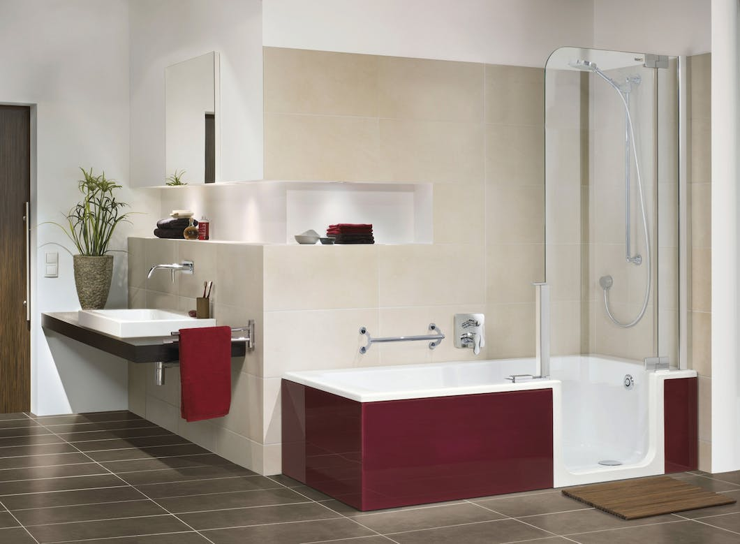 Underfloor heating is a great bathroom heating option for those with limited mobility and where space is limited