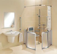 Collaborative design & installation approach to creating a mobility bathroom.