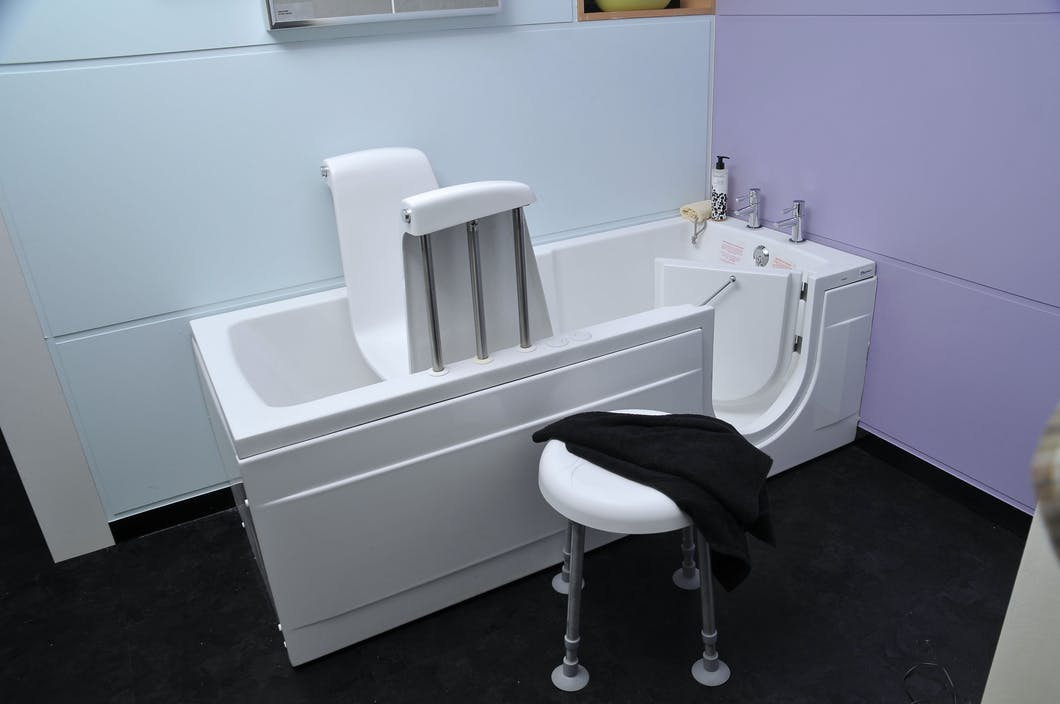When it comes to walk-in baths, just because they serve a health or age related concern doesn't mean they can't be stylish in appearence.  At More Ability our solutions for walk-in baths include:  Walk-In Baths with a Rise & Fall Seat,  Walk-In Baths with Shower Mixer &  Walk-In Bath Tub with Build in Seat.