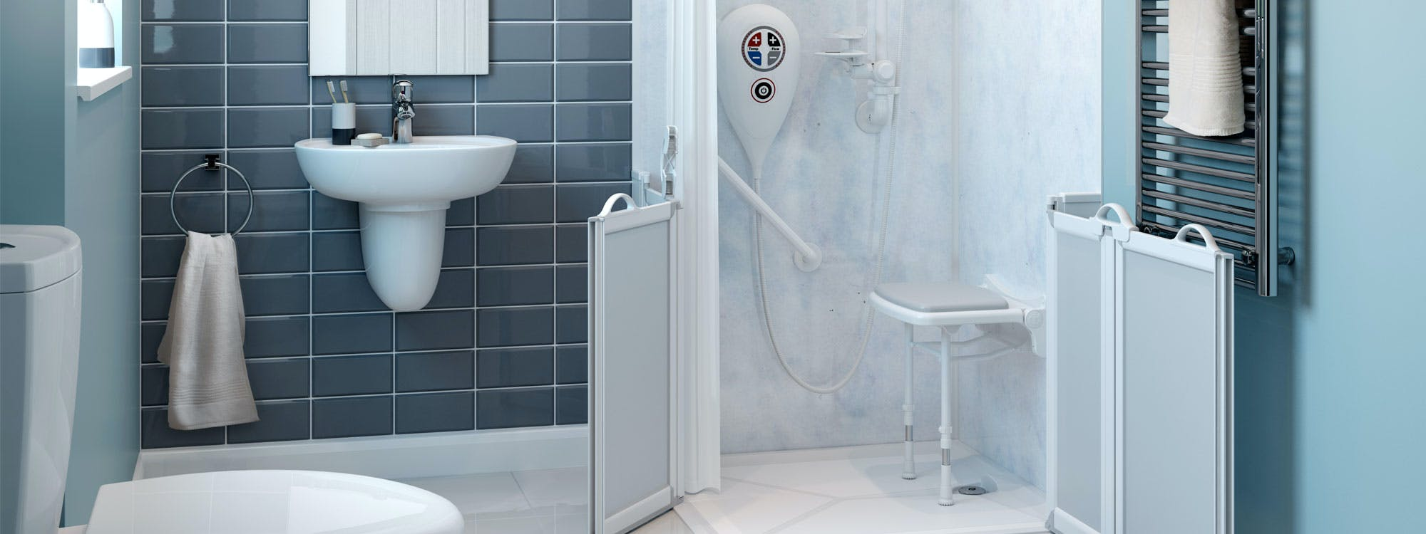 Safe & Practical Wet Floor Shower Solution
