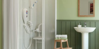 Allowing for all eventualities, multi-purpose use and individual needs & requirements, level access showers cater for zimmer-in, wheel-in and walk-in accessibility.