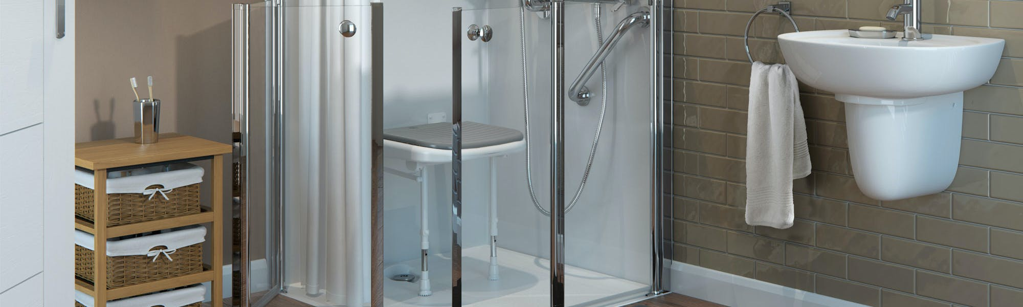 Level Access Shower For The Elderly | Fit By More Ability