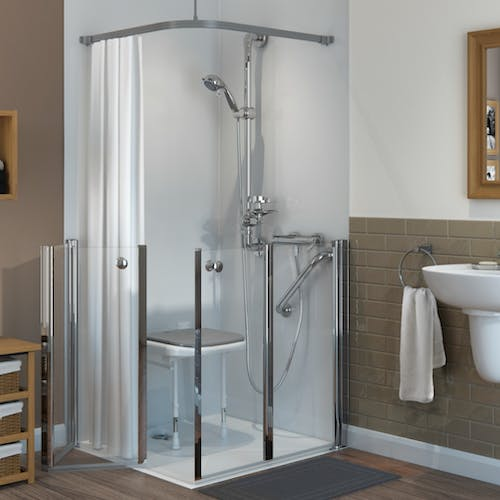 Covering Leeds & Harrogate we'll help you take control of your bathing experience with a mobility level access shower. A perfect alternative for the elderly