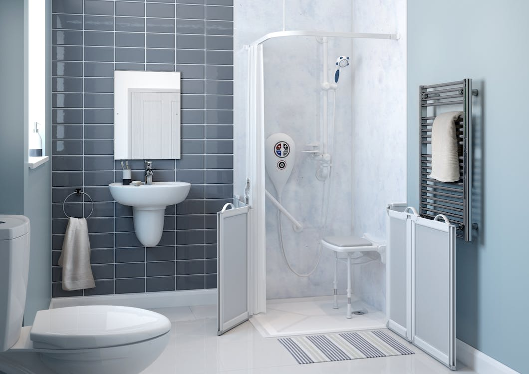 The main benefits to installing a disabled shower room, opposed to an 'off the shelf' level access solution, is that they are designed to cover all present needs, as well as taking into consideration any future deterioration; meaning if done correctly it will only be done once.