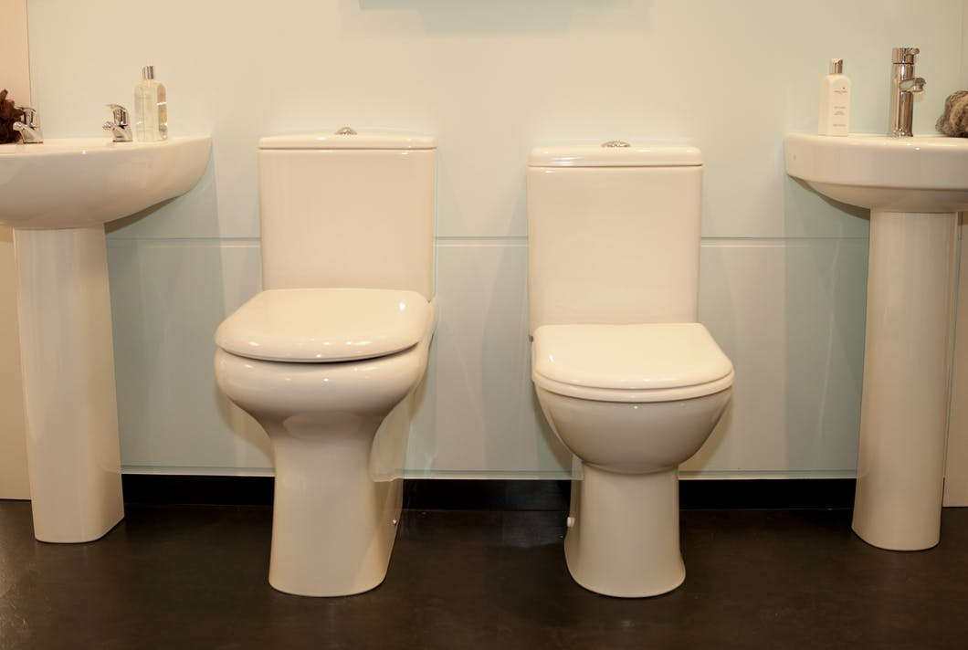 Firstly raised height WC's make getting on and off the toilet much easier and safer, whereas raised height basins reduce the need to bend over and ease the amount of strain put on your back.  Both look identical to standard bathroom sanitary ware with the height difference remaining unseen to the naked eye.