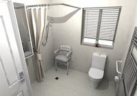 Wet Floor Shower Solution - designed, supplied & installed