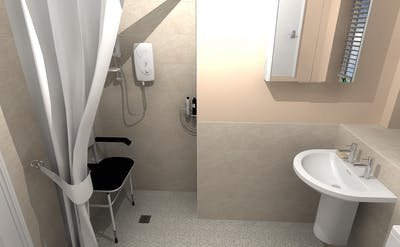 a bespoke / assisted wet room - designed, supplied & installed