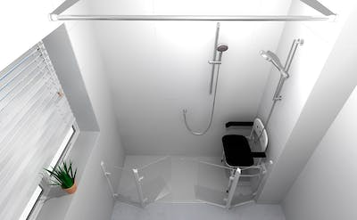 Bespoke & Assisted Shower Solution - designed, supplied & installed
