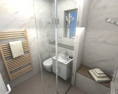 Accessible wet floor shower
