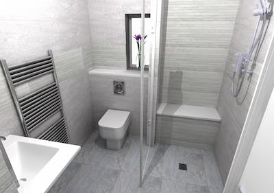 A stylish wet floor shower solution - designed, supplied & installed
