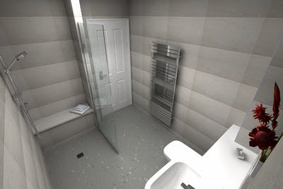 Accessible Wet Floor Shower Case Study | Wetherby | North Yorkshire
