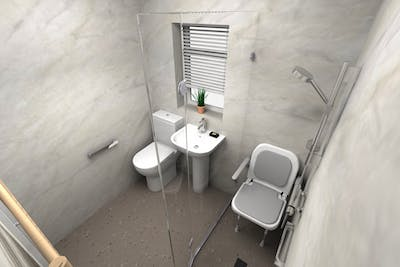 Mobility wet room shower