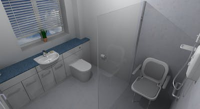 wet room shower for the elderly - designed & installed