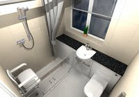 Safe & Practical Level Access Shower Solution - designed, supplied & installed