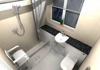 Safe & Practical Level Access Shower Solution - designed, supplied & installed