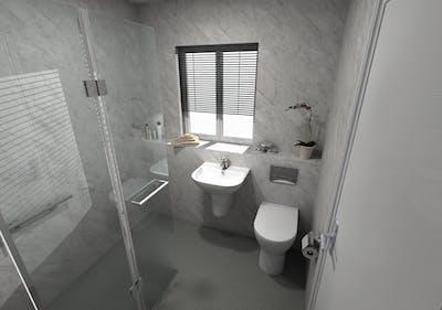 Accessible Wet Floor Shower | Yeadon | Leeds