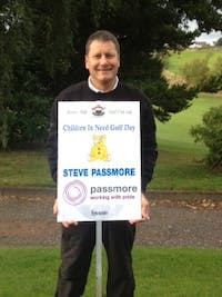 steve passmore takes part in annual golf event to raise money for children in need.