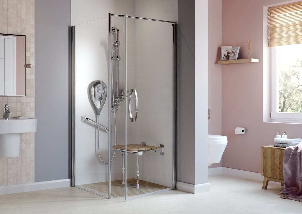 With an easily accessible wet floor shower opposed to a traditional tray or enclosure, the entire room becomes your accessible shower.  As a result of there bespoke & 'purpose built' properties, wet floor showers are the ideal future proofed solution due to there wide spread suitability, regardless of individual requirements.