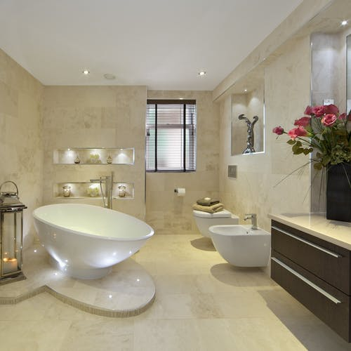 Invest in a luxury bathroom setting and be the envy of all your friends.