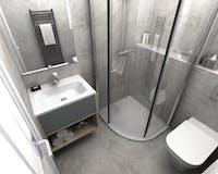 Modern shower room enclosure