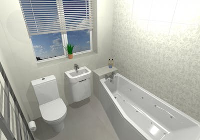 Small / compact bathroom - designed, supplied & installed