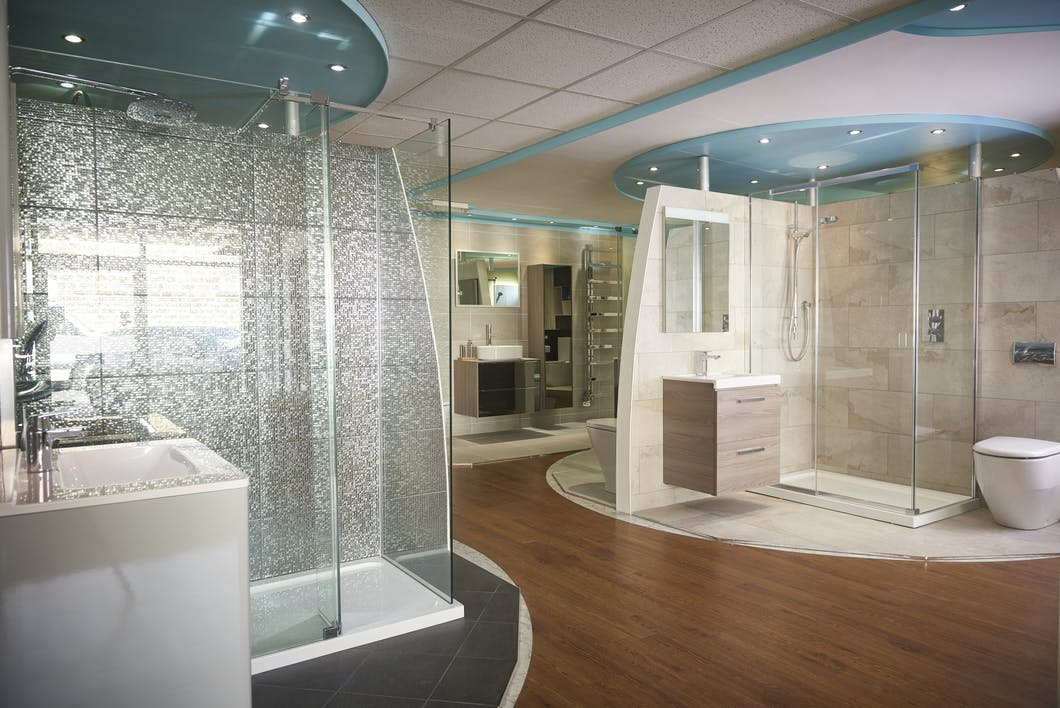 We display a wide selection of bathrooms, shower rooms, en-suite and cloakroom fixtures at our Harrogate Bathroom Showroom.