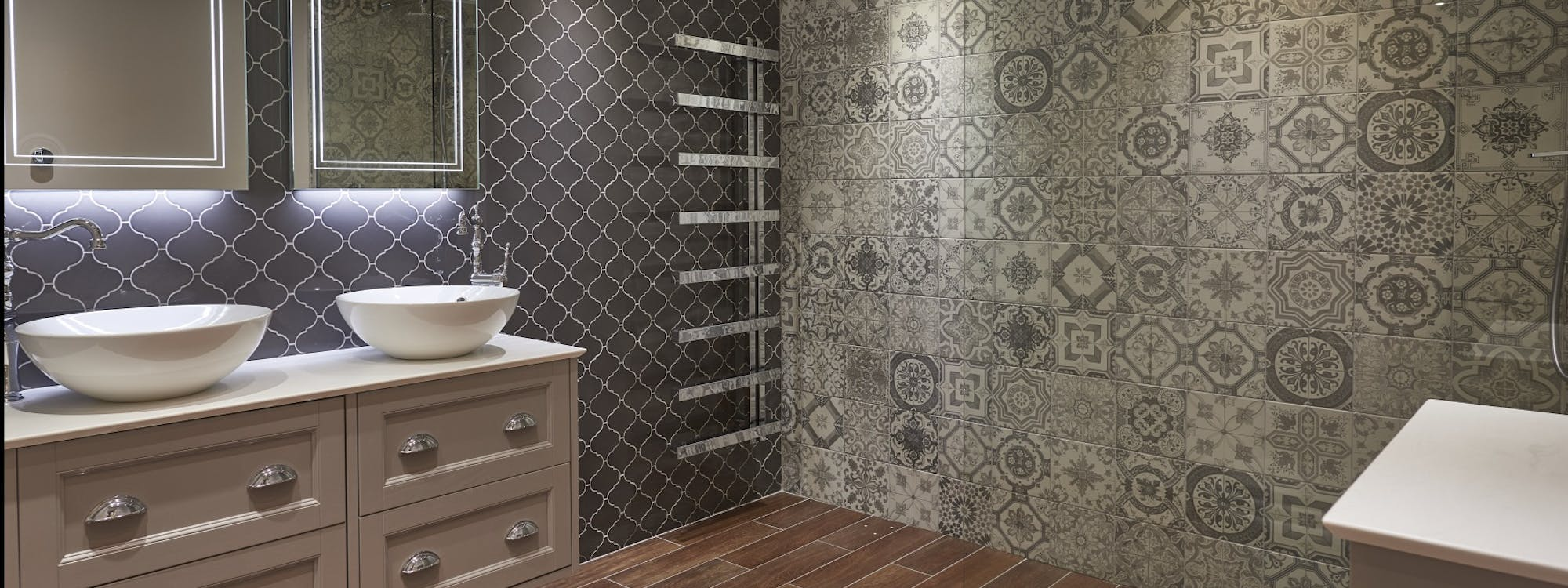 Our harrogate bathroom showroom is a large luxurious space for Bathroom displays