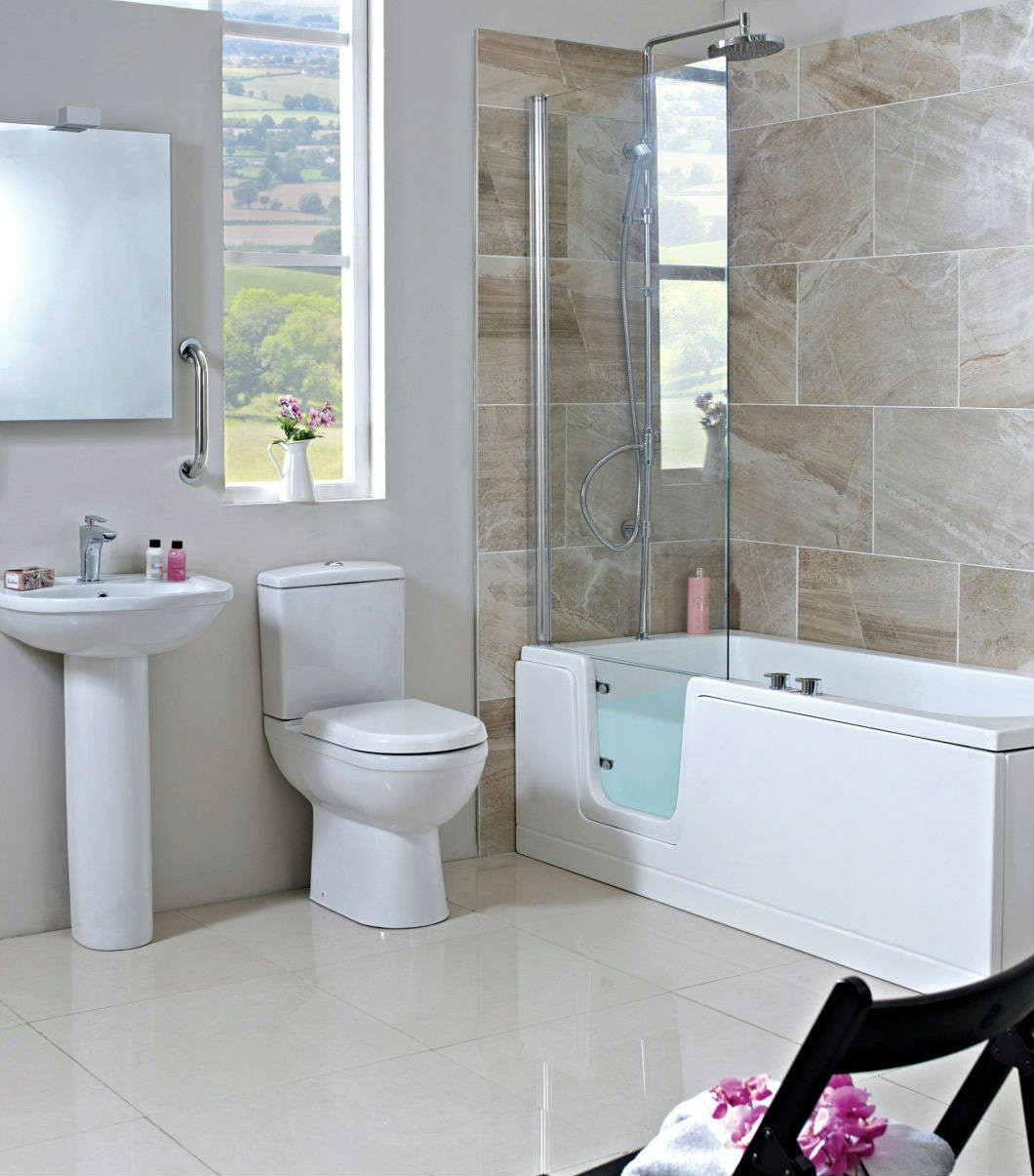 stylish and safe easy access bathrooms design & installed by More Bathrooms in Leeds.